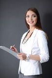 Portrait of a business woman holding  folder , Royalty Free Stock Image