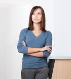 Portrait of business woman stock images