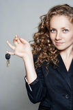 Portrait of business woman with keys Stock Image
