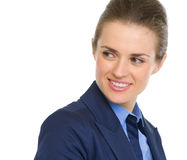 Portrait of business woman looking on copy space Royalty Free Stock Images