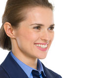Portrait of business woman looking on copy space Stock Photo
