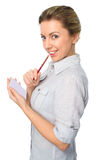 Portrait of  business woman with a notepad Stock Photography