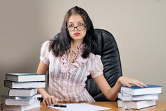 Portrait of business woman in office environment Stock Image
