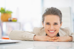 Portrait of business woman in office Royalty Free Stock Image