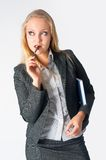 Portrait of a business woman with organizer Royalty Free Stock Photography