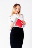Portrait of a business woman with organizer Stock Image