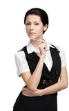 Portrait of business woman with pen Royalty Free Stock Photography