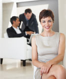 Portrait of a business woman relaxing Royalty Free Stock Image
