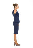 Portrait of business woman showing stop gesture Royalty Free Stock Image