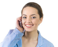 Portrait of business woman talking on the phone Stock Photography