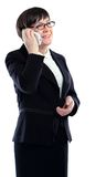 Portrait of business woman talking on the phone Stock Photo
