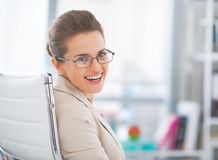 Portrait of business woman wearing eyeglasses Royalty Free Stock Photos