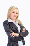 Portrait of business woman on a white background i Stock Images