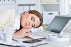 Portrait of a business woman at work Royalty Free Stock Images