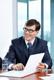 Portrait of the businessman Royalty Free Stock Image