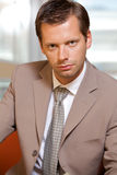Portrait of businessman Stock Photos