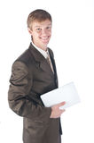 Portrait of the businessman. Portrait of the young successful businessman Royalty Free Stock Photo