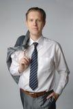 Portrait of businessman. Portrait of middle age businessman in austere suit Stock Images