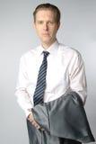 Portrait of businessman. Portrait of middle age businessman in austere suit Stock Photography