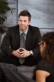 Portrait of  businessman Stock Photos