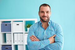 Portrait of businessman with arms crossed royalty free stock image