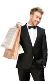 Portrait of businessman with bags Royalty Free Stock Photos