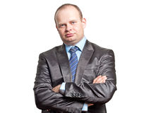Portrait of a businessman in a black suit Royalty Free Stock Photography