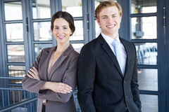Portrait of businessman and businesswoman Royalty Free Stock Photos