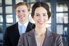 Portrait of businessman and businesswoman Stock Image