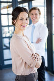 Portrait of businessman and businesswoman Royalty Free Stock Photography