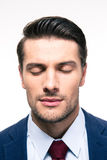 Portrait of businessman with closed eyes Royalty Free Stock Image