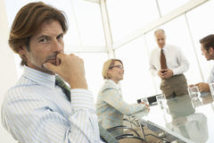 Portrait Of Businessman In Conference Meeting Royalty Free Stock Images