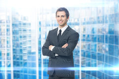 Portrait of businessman with crossed arms Stock Photo