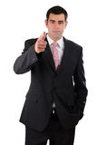 Portrait of a businessman finger pointing forward Stock Photography