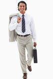 Portrait of a businessman going to work Royalty Free Stock Photography