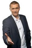 Portrait of  businessman with handshake Stock Photos