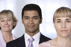 Portrait of businessman and his team. Stock Photo