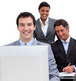 Portrait of a businessman and his team Royalty Free Stock Photography