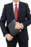 Portrait of a businessman holding a folder Royalty Free Stock Photo