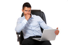 Portrait of a businessman with laptop Royalty Free Stock Photo