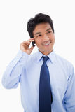 Portrait of a businessman making a phone call Royalty Free Stock Photo