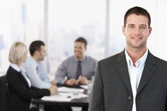 Portrait of businessman in meeting room Stock Photography