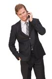 Businessman on Mobile Phone Stock Images