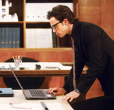 Portrait of businessman at modern office Stock Images