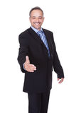 Portrait Of A Businessman Offering Handshake Royalty Free Stock Photography