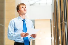 Portrait of a businessman in office Stock Image