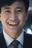 Portrait of businessman in a parking garage, close-up Stock Photography