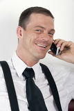 Portrait of businessman on the phone Stock Images