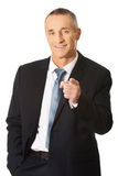Portrait of businessman pointing on you Royalty Free Stock Photography