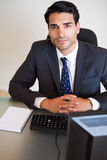 Portrait of a businessman posing Stock Images